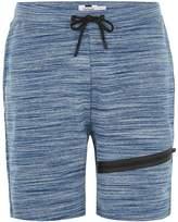 Topman Blue Space Dye Tech Shorts