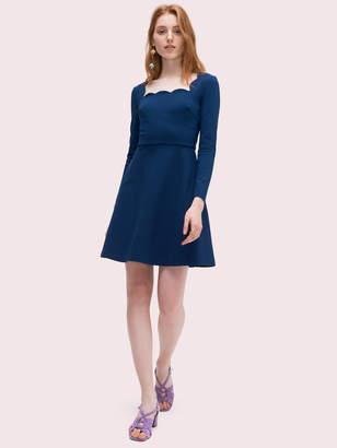 Kate Spade Scallop Ponte Dress