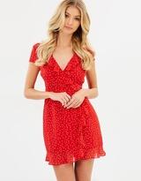 Bardot Backless Spot Dress