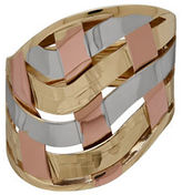 Lord & Taylor Gold Rush 14K Gold & Rose-Gold-Plated Woven Band Ring