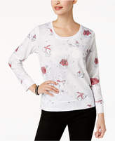 Style&Co. Style & Co Printed Embellished Sweatshirt, Created for Macy's