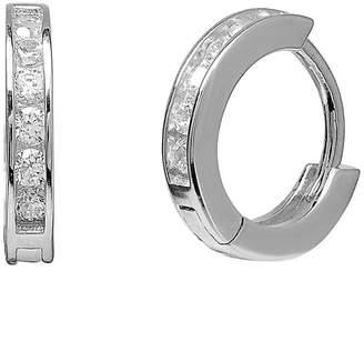 GABIRIELLE JEWELRY Silver Cz Huggie Earrings