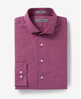 Express fitted jacquard dress shirt