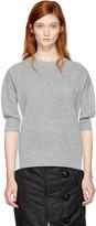 Sacai Grey and White Hybrid Shirt Pullover