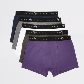 River Island Maison Riviera purple trunks 5 pack