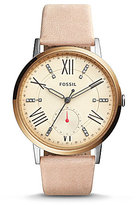 Fossil Gazer Multifunction Leather-Strap Watch