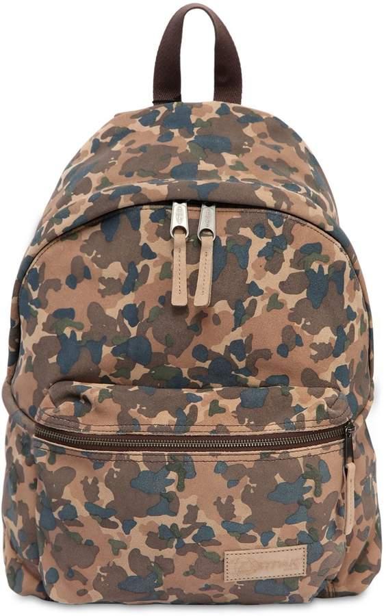 Eastpak 24l Camouflage Suede Backpack