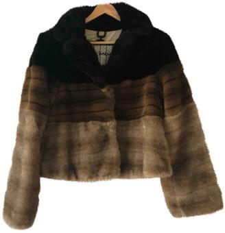 Maliparmi Brown Faux fur Jacket for Women