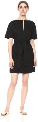 Theory Women's Short Sleeve Belted Shift Dress
