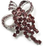 Avalaya Bright Lilac Crystal Grapes Brooch ( Tone)