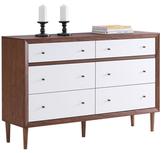 Harlow Mid-Century 6-Drawer Dresser
