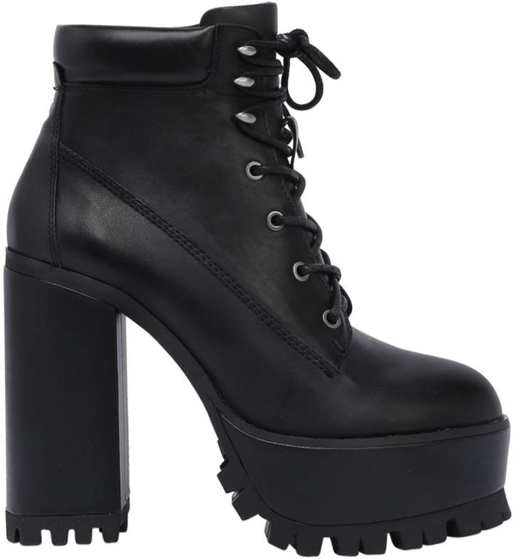 Windsor Smith 100mm Parkland Lace Up Leather Boots