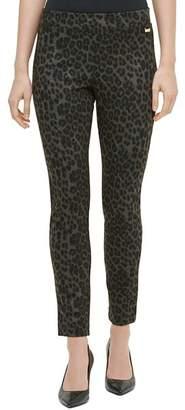 Calvin Klein Animal-Print Skinny Pants