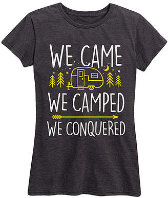 Instant Message Women's Women's Tee Shirts HEATHER - Heather Charcoal 'We Came We Camped' Relaxed-Fit Tee - Women