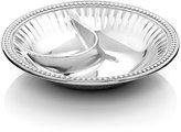 "Wilton Armetale Flutes and Pearls"" Chip & Dip Bowl"