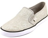 G by Guess Malden 6 Women Round Toe Canvas Silver Loafer.