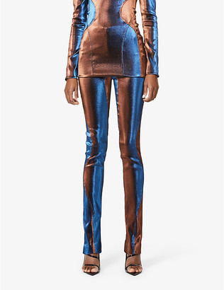Thierry Mugler Flared high-rise woven trousers