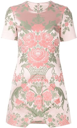 Christopher Kane Floral Jacquard Mini Dress