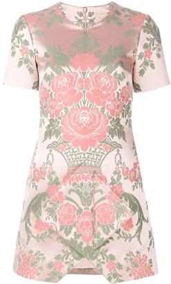Christopher Kane Floral Jacquard Mini Dress