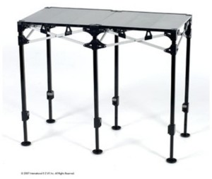 E-Z UP Instant Table System Aluminum Folding Top