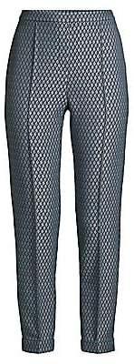 Elie Tahari Women's Marcia Diamond Stretch-Jacquard Pants - Size 0