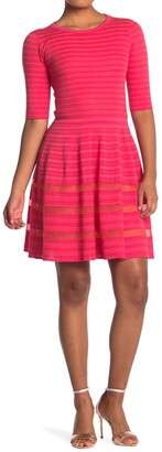 M Missoni Mesh Stripe Fit & Flare Dress