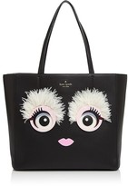 Kate Spade Imagination Monster Eyes Leather Tote