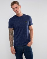 Lyle & Scott Mini Square Dot T-Shirt Navy