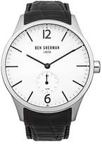 Ben Sherman Men's 'Spitalfields Professional' Quartz Stainless Steel and Leather Casual Watch, Color:Black (Model: WB003BA)