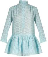 Thierry Colson Lizbeth fil coupé silk-gauze dress