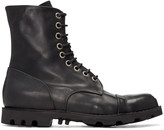 Diesel Black Steel Boots