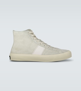 Tom Ford Cambridge high-top suede sneakers