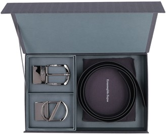 Ermenegildo Zegna Leather Belt With Two Buckles