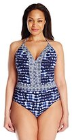 Bleu Rod Beattie Bleu | Rod Beattie Women's Plus Size I've Got You Babe Halter One Piece Swimsuit