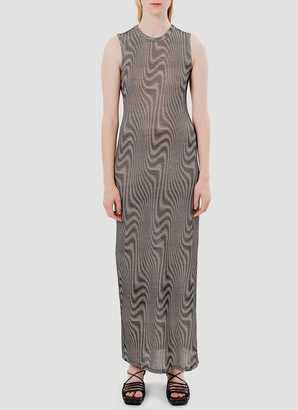 Eckhaus Latta Optic Warp Maxi Dress