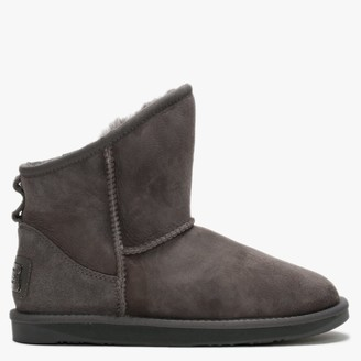 Australia Luxe Collective Cosy X-Short Grey Double-Faced Sheepskin Ankle Boots