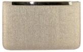 Menbur Metallic Clutch - Beige