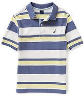 Nautica Big Boys 8-20 Horizontal-Striped Ribbed Pique Polo Shirt