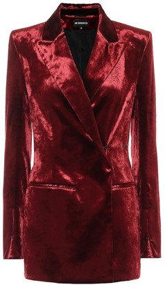 Ann Demeulemeester Stretch-cotton velvet blazer