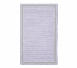 Pottery Barn Kids Custom Chenille Border Reversible Easy Clean Rug, Rectangle