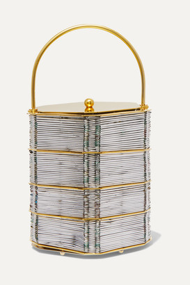 VANINA Le Puits D'amour Gold-plated And Woven Tote - Silver