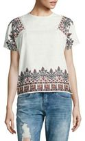 Romeo & Juliet Couture Embroidered Crewneck Top