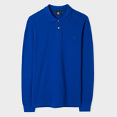 Paul Smith Men's Indigo PS Logo Long-Sleeve Organic-Cotton Polo Shirt