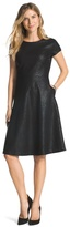 Chico's Embossed Fit-and-Flare Black Dress
