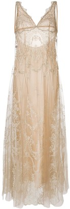 I.D. Sarrieri Lace-Embroidered Shift Night Dress