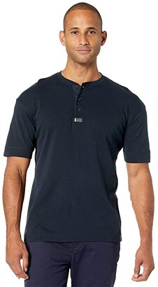Scotch & Soda Short Sleeve Grandad Tee (Navy) Men's T Shirt