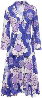 Dodo Bar Or Tie-detailed Floral-print Cotton Midi Dress
