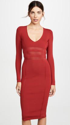 Good American Deep V Midi Dress