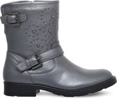 Geox Sofia studded leather biker boots 6-7 years