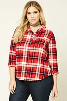 Forever 21 FOREVER 21+ Plus Size Plaid Flannel Shirt